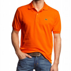 Tricou barbati Lacoste, Maneca scurta, Bumbac - Tricou Lacoste polo Orange - 2 variante de culoare