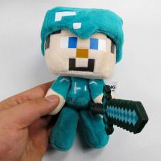 Minecraft plush pack ! Character: Steve Diamond -18 cm + Bratara CADOU!! - Jucarii plus