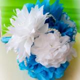 "Buchet Mireasa din Flori de Hartie ""Something blue"""