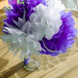 Buchet Mireasa din Flori de Hartie