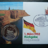 1994 Germania - FDC si medalie ( Helgoland )., Europa