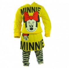 Set bluza si colanti Minnie Mouse Bucuria Copiilor 12 luni, Galben
