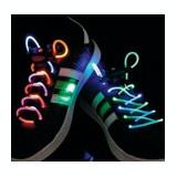 Sireturi de pantofi cu led, verzi/mov, BasicXL