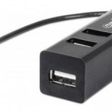 HUB MICRO-USB TO USB 2.0 OTG 3 PORTURI + CARD READER