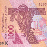 bancnota africa, An: 2012 - Bancnota Statele Africii de Vest ( Senegal ) 1.000 Franci 2012 -P715K UNC