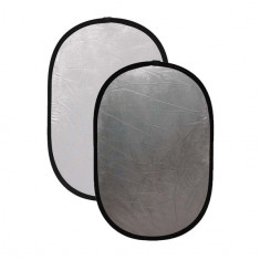 Blenda ovala 2in1 white-silver 100x180cm - Echipament Foto Studio