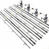 Set 4 lansete EXCELLENT MASTER CARP 3, 6m, 4 lbs, 3 tronsoane cu XZ9000 9+1 RUL - Lanseta