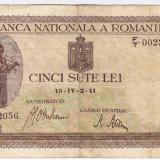 Bancnota 500 lei 2.IV.1941 filigran vertical (15)