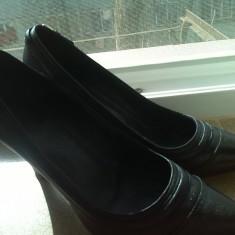 Pantofi piele naturala boss marime 38 - Pantof dama Hugo Boss, Culoare: Negru