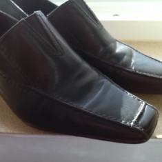 Pantofi piele naturala tamaris marime 41 - Pantof dama Tamaris, Culoare: Negru