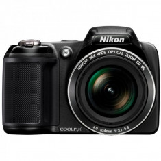 Aparat Foto compact - Aparat foto digital Nikon Coolpix L320, 16 MP, zoom optic 26x, Negru