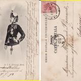Carte Postala, Circulata, Printata - Casa regala - Principesa Maria in costum de husar- clasica, rara