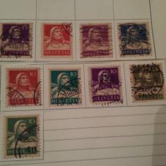 Elvetia 1914-24 tell cu arbaleta / 9 v., Stampilat