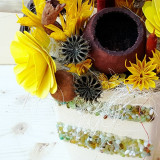 Aranjament vas ceramic cu pietricele