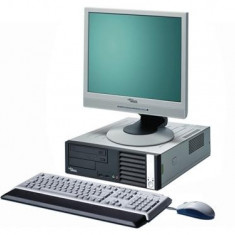 Pachet PC Fujitsu Siemens E5915, Core 2 Duo E6320, 1.87Ghz, 1Gb, 80Gb, DVD-ROM, 8356 - Sisteme desktop cu monitor Fujitsu, Intel Core 2 Duo, 1501- 2000Mhz, 2 GB, 40-99 GB, 15 inch