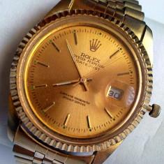 Rolex Oyster Perpetual Date-Just Superlative Chronometer Officially 7870C - Ceas barbatesc Rolex, Elegant, Quartz, Placat cu aur, Analog