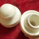 Vintage - lot 2 bucati izolator ceramic model interesant !!!