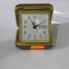 Superb ceas vechi de calatorie/birou EUROPA ! - Ceas de masa