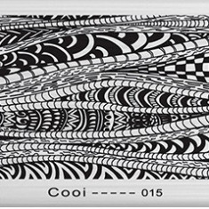 Matrita metalica pentru unghii Placuta medie Model Cooi 015 - Unghii modele
