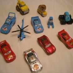 Disney Pixar Cars - Hasbro - 10 figurine masinute de metal - lot 2 - Masinuta de jucarie