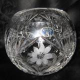 Vaza sticla - VAZA CRISTAL BOHEMIA / BOEMIA CU FORMA SFERICA