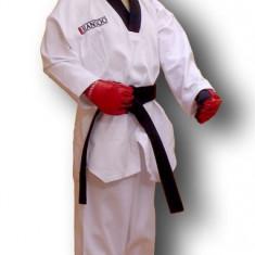 Dobok - ribbed* Polyeste 65%/bumbac 35%*Alb*140 cm - Taekwondo
