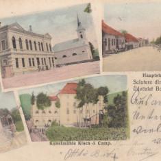 SALUTARE DIN BORGO - PRUND (BISTRITA ) CIRCULATA MAR. ''903 - Carte Postala Transilvania pana la 1904, Printata