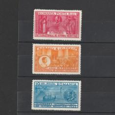 Romania 1932 Istoria Medicinei 1, 6, 10L MH - Timbre Romania, Medical, Nestampilat