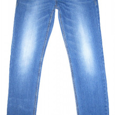 Blugi BERSHKA Slim Fit - (MARIME: 30) - Talie = 84 CM, Lungime = 106 CM - Blugi barbati Bershka, Culoare: Albastru, Prespalat, Normal