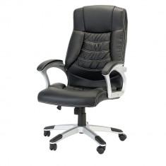 Scaun de birou ergonomic, Kring Bokai, Piele ecologica, Negru, Nou - Scaun birou
