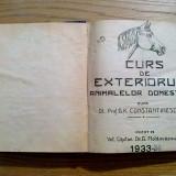 CURS DE EXTERIORUL ANIMALELOR DOMESTICE - G.K. Constantinescu - 1933, 512 p.