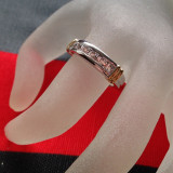 Inel placate cu aur - Inel Fashion verigheta- INOXIDABIL-Placat cu aur alb si Swarovski - marimea 8