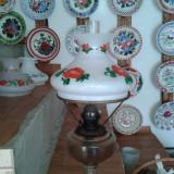 LAMPA DE BIROU CU ABAJUR PICTAT IN STARE BUNA ., Lampi