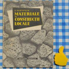 Materiale de constructii locale Emil Harstein 1957 - Carti Constructii