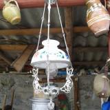 LAMPA TARANEASCA CU ABAJUR PICTAT, Lampi