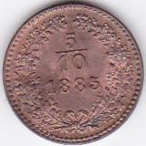 Austria Ungaria 5/10 Kreuzer Krajczar 1885 a.UNC / UNC, Europa