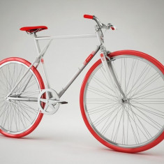 Pegas Clasic B - 3 viteze, Argintiu - Bicicleta retro