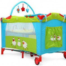 Pat copii - Patut Pliant Bebe MONI Happy Baby Triple Chicks