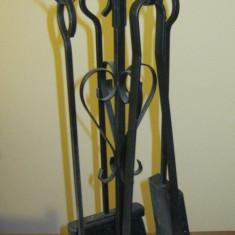 Metal/Fonta, Scule si unelte - Set de unelte de semineu, unelte soba