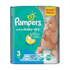 Scutece unica folosinta copii - Scutece PAMPERS GIANT PACK 3 ACTIVE BABY Pentru Copii