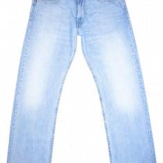 LEVI'S 506 STANDARD - (MARIME: 30 x 30) - Talie = 83 CM, Lungime = 103 CM - Blugi barbati Levi's, Culoare: Albastru, Prespalat, Drepti, Lasat