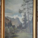 G. Catargi * Ulei pe carton * Dimensiuni 22, 5 x 33 cm - Pictor roman, Peisaje, Realism
