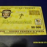 Abonament Rapid retur 2001-2002