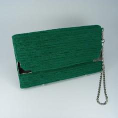 Geanta plic verde de dama crosetata manual Buticcochet - Geanta Dama