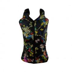 Vesta Adidas Originals, din fas, de Dama, Neagra, Inflorata, Toate Masurle F265 - Vesta dama
