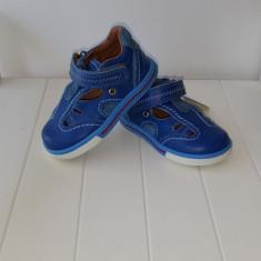 Sandale copii - Sandale piele baieti Blue 404 (Culoare: albastru, Marime incaltaminte: 22)