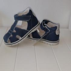 Sandale copii - Sandale piele baieti Andromeda (Culoare: alb/ bleumarin, Marime incaltaminte: 25)