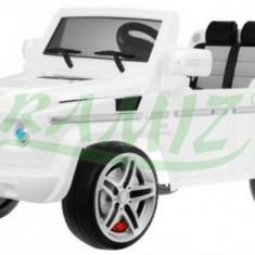 Masinuta electrica copii - Mercedes G55 AMG cu acumulator si telecomanda Alb Ramiz