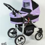 Carucior copii 2 in 1 - Carucior 2 in 1 Street S16 (Violet cu Negru) Kerttu