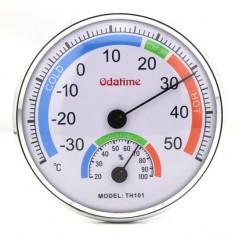 Termometru cu higrometru diametru 12 cm